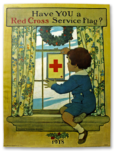 Have You A Red Cross Service Flag? Poster by Jessie Wilcox Smith - 1918