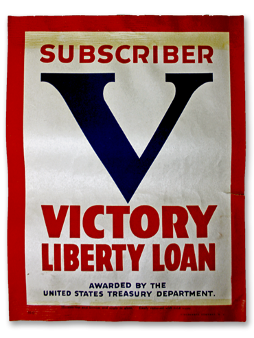 Subscriber Victory Loan decal - 1919