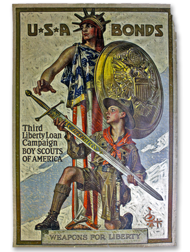 Weapons For Liberty poster by Joseph Christian Leyendecker - 1918