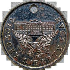 Victory Liberty Loan Medal front. Awarded by the U.S. Treasury Department for patriotic service in behalf of the Liberty Loans