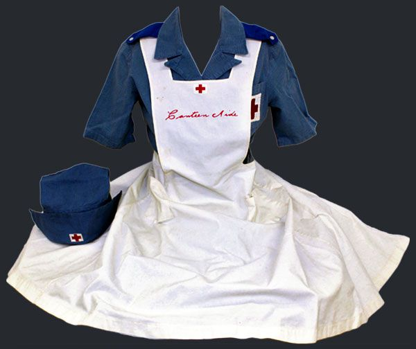 Red Cross Canteen Workers Uniform worn by Marie Petty of Dover, Delaware, in 1919