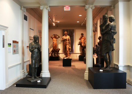 "Entrance to the exhibit, ""Dealing in Symbols: Profundity and the Human Figure."""