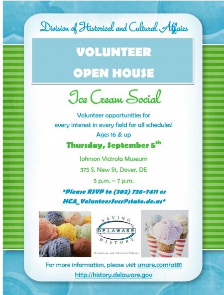 HCA Volunteer Open House Flyer