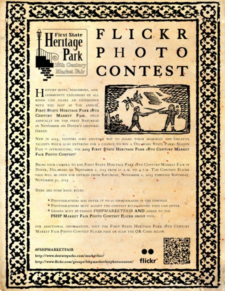 First State Heritage Park Market Fair Photo Contest Flyer