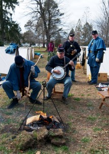 Members of the Second Delaware Volunteer Infantry in camp.