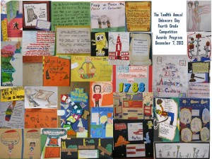Examples of Student Responses to Questions from the 12th Annual Delaware Day Fourth Grade Competition.