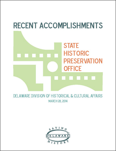 DE SHPO FY 2013 Accomplishments_cover with border