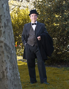 Bob Gleason of the American Historical Theatre will portray John Wanamaker on May 3 at Legislative Hall.