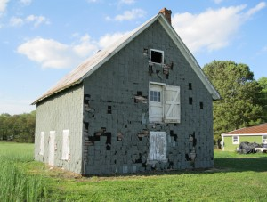 Phillips Potato House after Hurricane Sandy