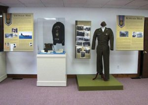 Display of Vietnam- and Korean-War-era items.