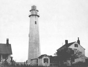 Fenwick Island Lighthouse in 1913. Photo courtesy of the U.S. Coast Guard.