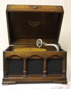 """Victrola VV 1-70 from the collections of the state of Delaware. The machine is featured in the exhibit """"Sounds of Camden."""""""