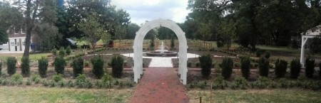 Redesigned parterre garden at Woodburn.