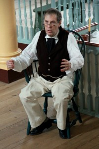 """Historic-site interpreter Dennis Fisher will portray Dr. James Sykes during the """"18th Century Market Fair"""" on Nov. 4, 2017."""