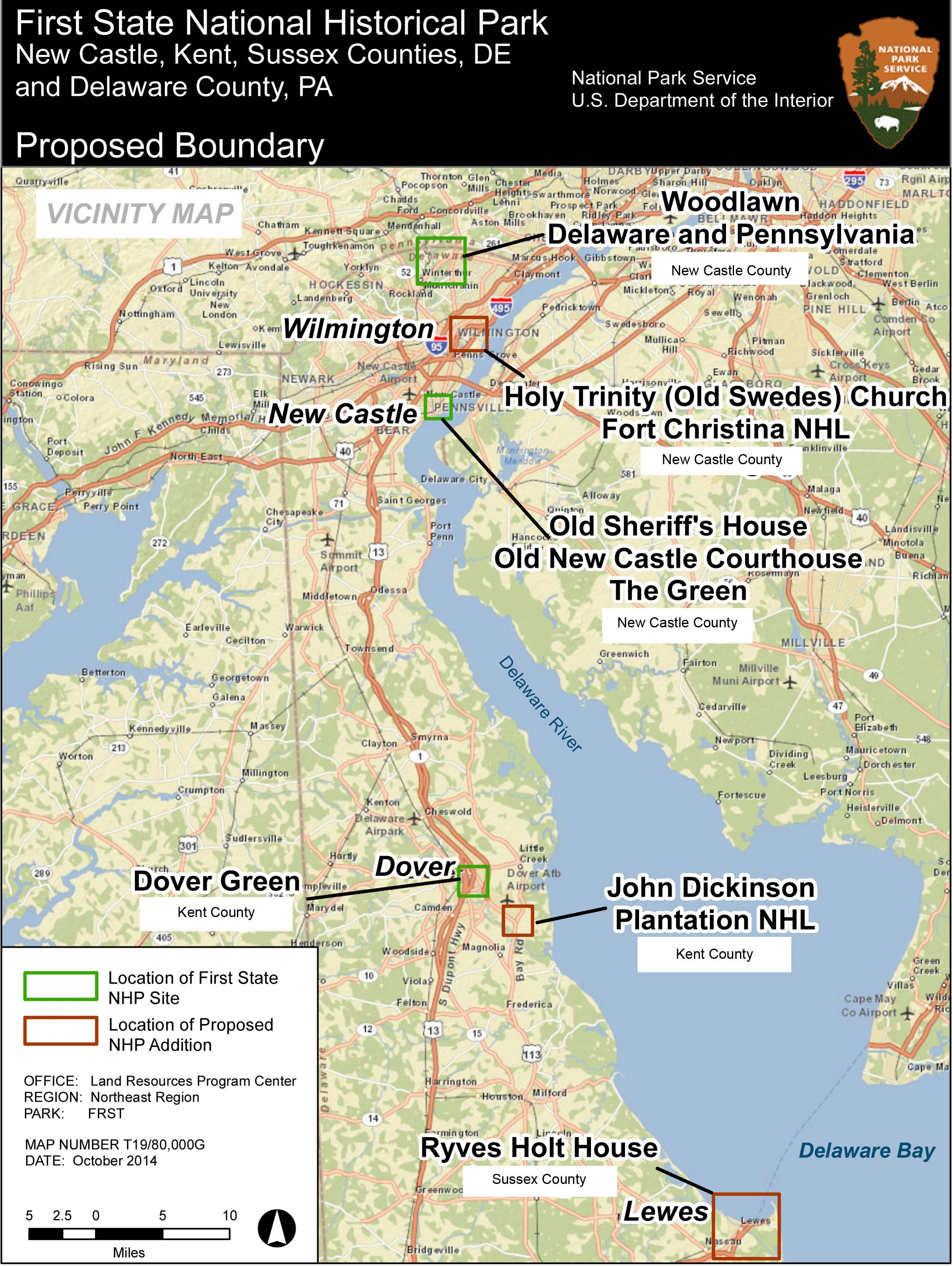 Delaware State Parks Map on
