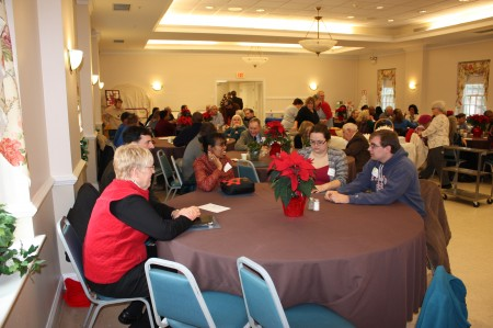 Division staff, volunteers, partners and friends at the end-of-the-year success event on Dec. 15, 2014.
