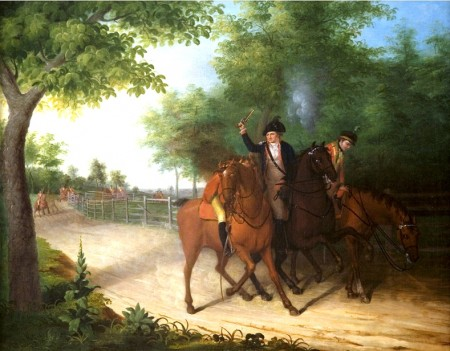 "James Peale, ""The Ambush of Captain Allan McLane,"" 1803. From the collections of the Utah Museum of Fine Arts."