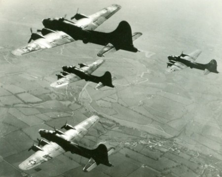 Four B-17 Flying Fortresses