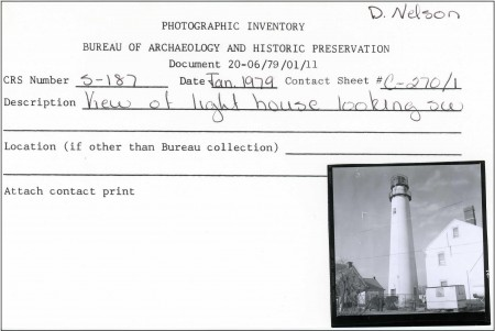 One of the preservation office's 33,000 photographic-inventory cards that are being scanned by CAI associates.
