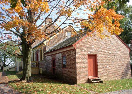 Photo depicting an autumn scene at the John Dickinson Plantation.