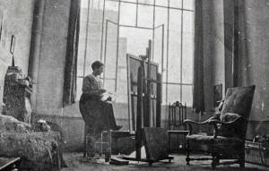 Ethel in her studio