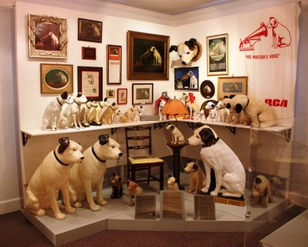 """""""Nipper Corner"""" at the Johnson Victrola Museum. The celebrated canine will be explored in programs on Sept. 3 and 5, 2016."""