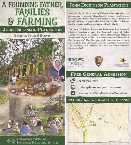 John Dickinson Plantation rack card