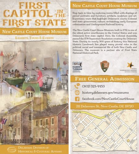 New Castle Court House Museum rack card