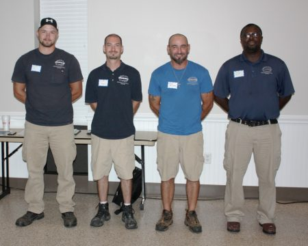 Delaware Department of State Employees of the Second Quarter. (From left) Chris Conley, Scott Hayes, Greg Buchman and James Scott of the division's Preservation-Maintenance Team.