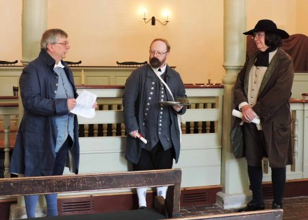 Photo of historical re-enactors Bob Vander Decker, David Price and Jim Whisman.