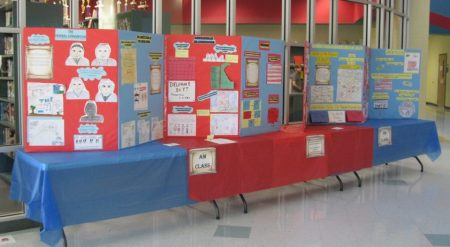 Displays created by Lake Forest Central Elementary School.