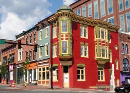 Street scene in Wilmington's Lower Market Street Historic District.