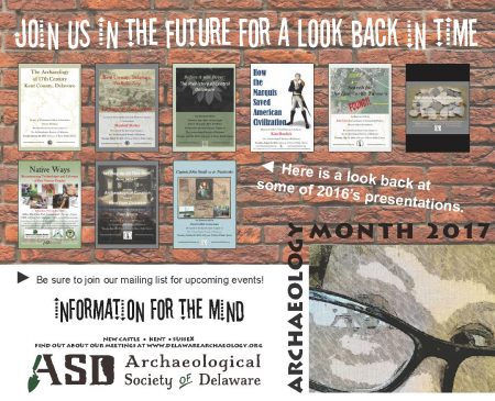 Delaware Archaeology Month poster 2017
