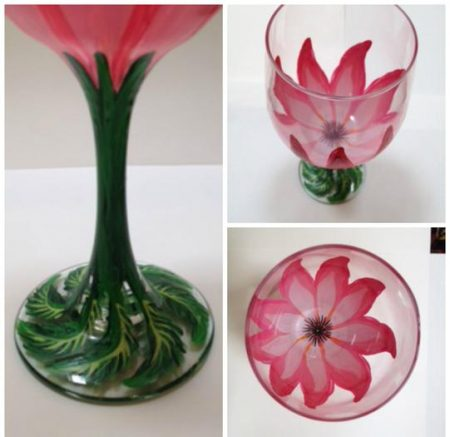 """""""Spring Flower!"""" Guests will create hand-painted wine glasses at the painting party event on June 22, 2017."""