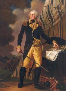 Portrait of George Washington by Denis A. Volozan, oil on canvas, 1802, The Old State House, Dover, Del.