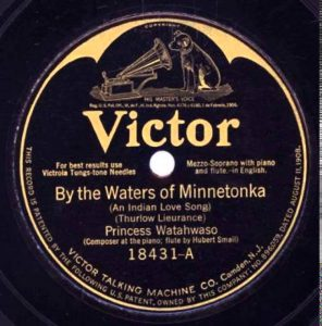 "Victor Records label, ""By the Waters of Minnetonka"""