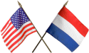 Dutch and American flags