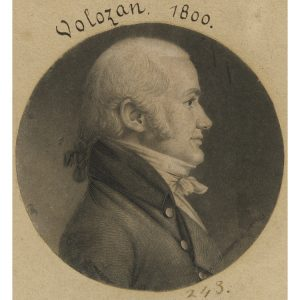 Engraving of Denis A. Volozan by Charles Balthazar Julien Févret de Saint-Mémin, 1800