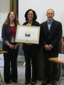 (From left) Gwen Davis; Michelle Shepherd, owner of the Jackson-Wilson House; and John Martin