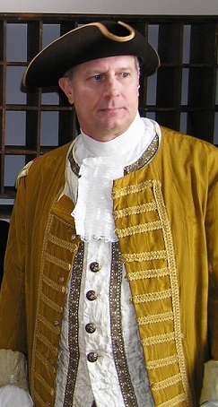 Curt Stickel in Colonial-period garb in 2007.