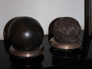 Cannon balls from the Battle of Cooch's Bridge that were later found on the Cooch property