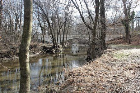 Present-day Cooch's Bridge over the Christina Creek