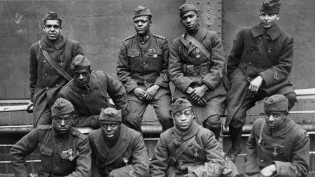 "Members of the Harlem Hellfighters who served during World War I. The experience of Black soldiers during and after the war will be explored in the program ""The Not So Great War: African Americans and World War I"" at The Old State House on Feb. 23, 2019."