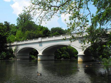 Historic Van Buren Street Bridge over the Brandywine Creek in Wilmington, Del.