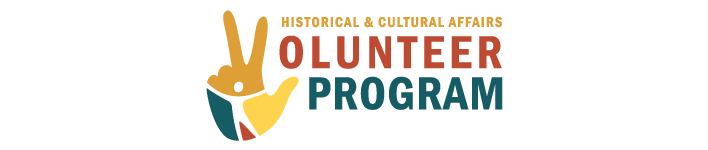 Historical & Cultural Affairs Volunteer Program graphic/logo