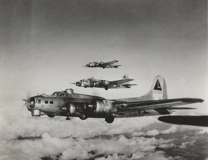 Three B-17 Flying Fortresses