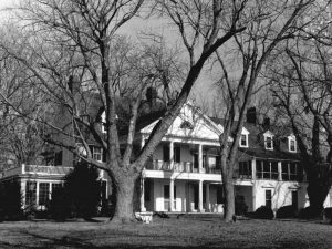Image: Front elevation of the Crosiadore plantation before it was torn down in 1976 Historical Society of Talbot County