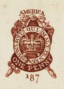 Stamp Act One Penny stamp