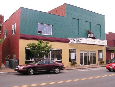 The Milton Theatre today. The building is a component of the Milton Historic District.