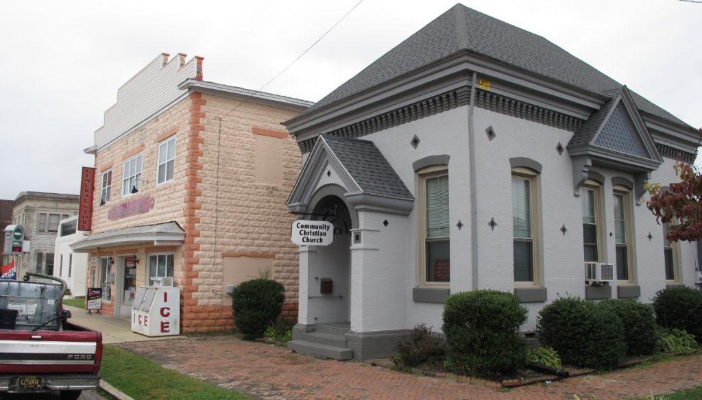 Photo of commercial buildings along Commerce Street in Harrington